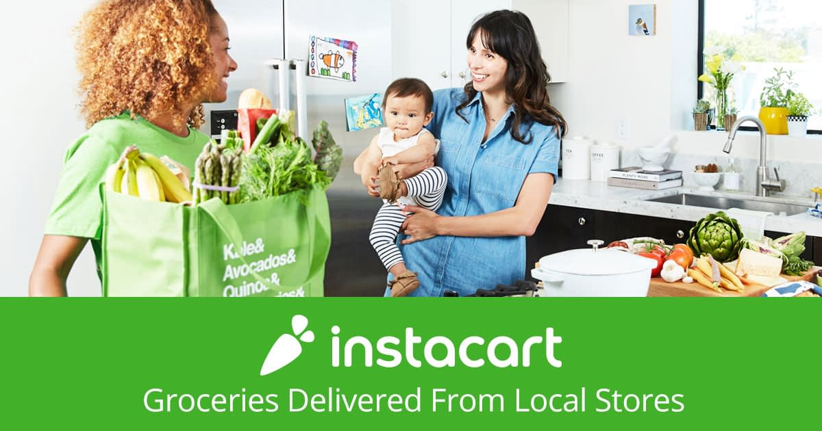 The business model of an on-demand grocery delivery app like Instacart